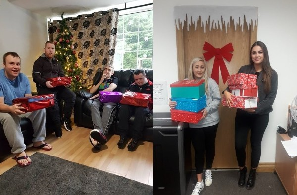 Nua Healthcare Service Users and employees support various Christmas Charities