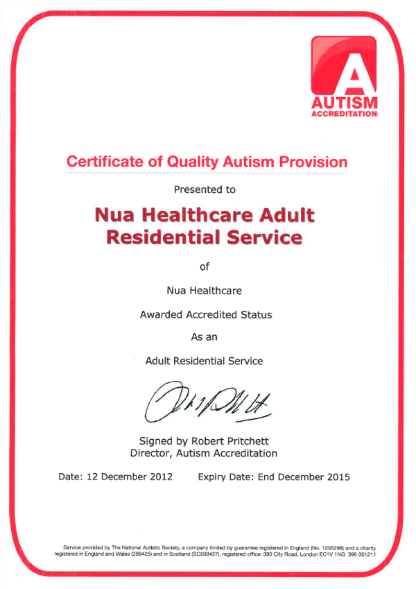 NAS Accreditation 2012 - 2015