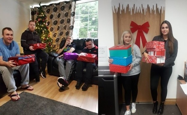 SERVICE ACHIEVEMENTS: Nua Healthcare Service Users and employees support various Christmas Charities